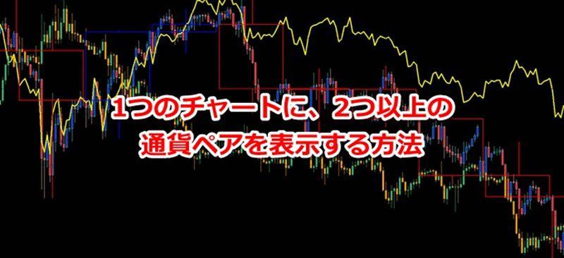 MT4(メタトレーダー)1つのチャートに、2つの通貨ペアを表示する方法